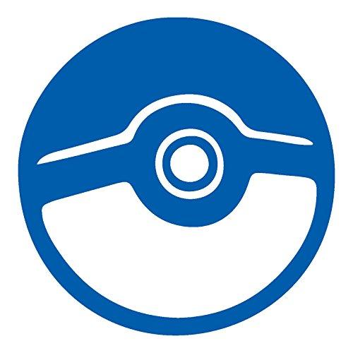 Price comparison product image Pokemon Go Pokeball (AZURE BLUE) (set of 2) Premium Waterproof Vinyl Decal Stickers for Laptop Phone Helmet Car Window Bumper Mug Tuber Cup Door Wall Decoration