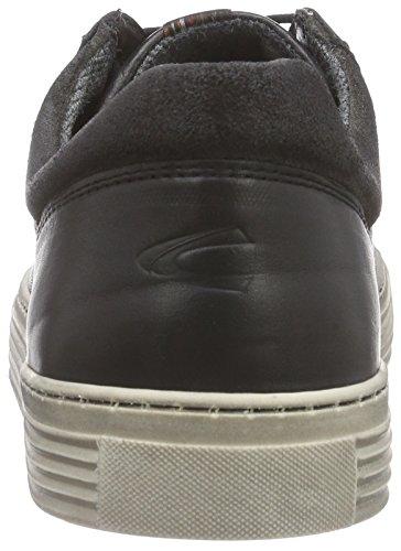 camel active Bowl 11 - zapatilla deportiva de cuero hombre negro - Schwarz (black/dk.grey)