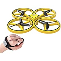 Sausiry Mini RC Drone, Watch Controller Gesture Hold Quadcopter UAV Performance Gesture Sensing Stable Gimbal G-Sensing…