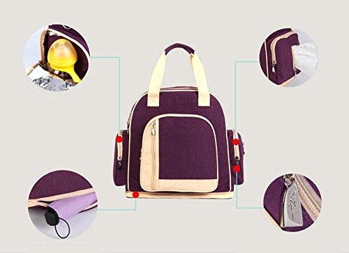 Las mujeres embarazadas salen paquete, bolso de la momia, salen el bolso, bolso de la madre, bolso multi-funcional del bebé del hombro, bolso femenino de la gran capacidad ( Color : Azul oscuro ) Pink