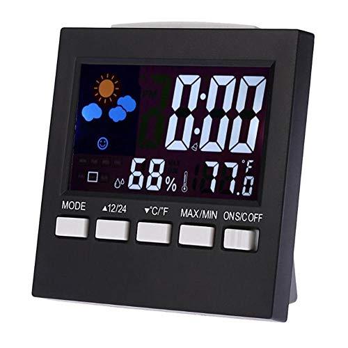 Relojes meteorológicos Estación de pronóstico Reloj despertador Niños Interior / Exterior Higrómetro Temperatura...