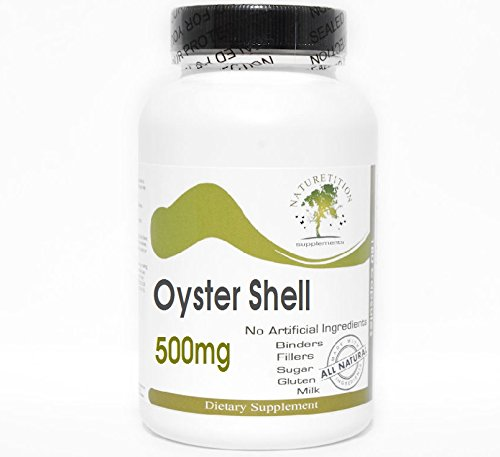 Oyster Shell 500mg ~ 200 Capsules - No Additives ~ Naturetition Supplements