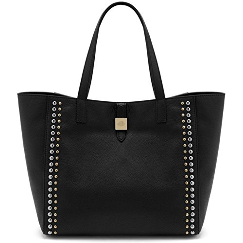 2208e58e8f0a Brand New authentic MULBERRY Tessie Tote Riveted Black Soft Pebbled Grain  Leather Shoulder Bag  Amazon.co.uk  Shoes   Bags