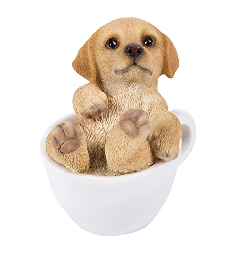 Pacific Giftware Golden Retriever Puppy Adorable Mini Teacup Pet Pals Puppy Collectible Figurine 3.25 Inches ()