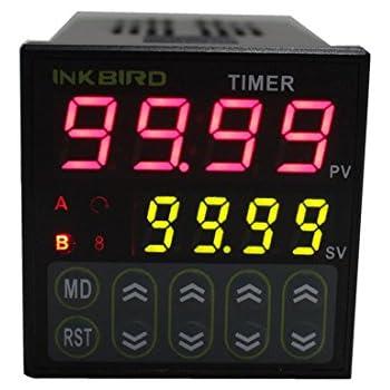 Inkbird Digital Twin Timer Relay Time Delay Relay Switch 110-220V Black IDT-E2RH
