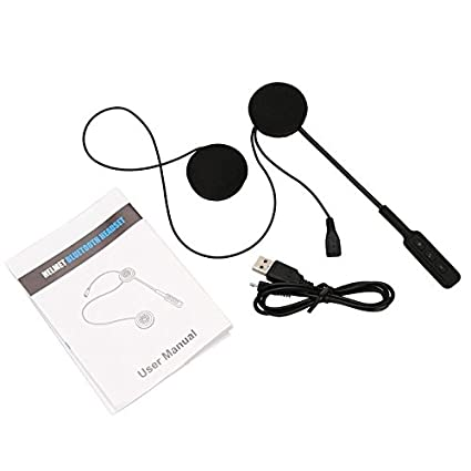 Zantec Moto Helmet inalámbrico Auricular Bluetooth Moto Casco Auricular Bluetooth 4.0 Doble Altavoz estéreo Manos Libres