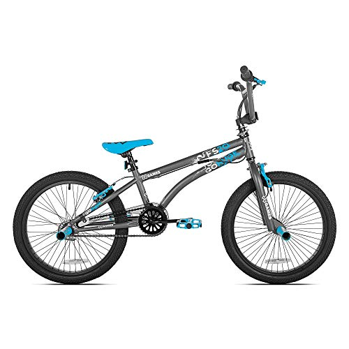 X-Games FS20 Single Speed 20-Inch Wheel Freestyle Trick BMX Bike, Dark Grey - Freestyle Bike Bicycle
