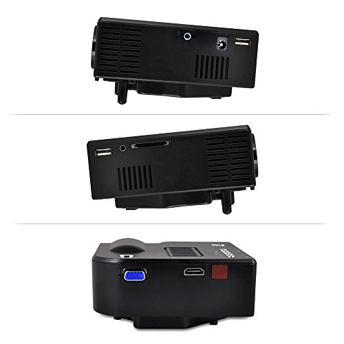 Pyle full hd 1080p mini portable pocket video cinema for Small powerful projector