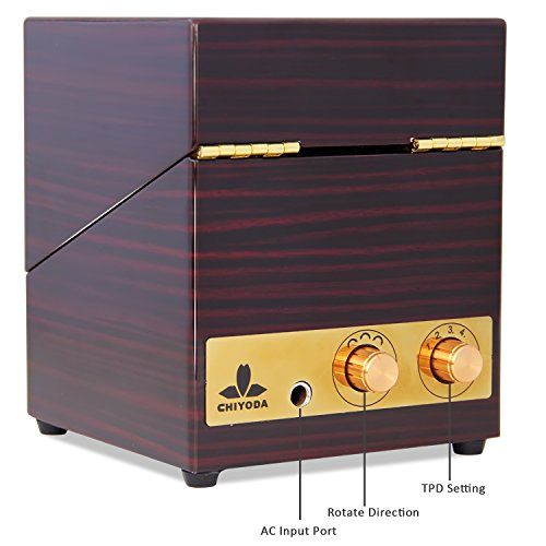 UpgradesCHIYODA-Quiet-Motor-Wood-Single-Watch-Winder-with-Dual-Knobs-100-Handmade