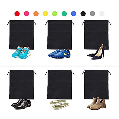 Travel Shoe Bags,Non-Woven with Rope for Men and Women Travel Packing Shoe Organizers,Rainbow 30 Pack