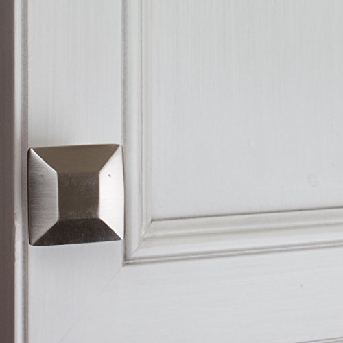 GlideRite Hardware 5101-SN-100 1.375 inch Satin Nickel Square Cabinet Knobs 100 Pack by GlideRite Hardware (Image #2)