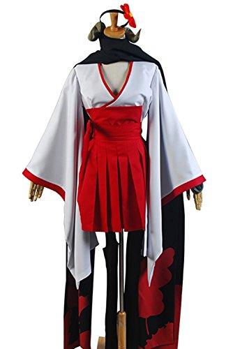 Inu X Boku Ss Shirakiin Ririchiyo Cosplay Costume (Inu x Boku SS Shirakiin Ririchiyo Youkai Form Cosplay Costume Reversion Style (XXX-Large))