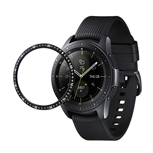 Case for Samsung Galaxy Watch 42MM,TADAMI Shock-Proof All-Around Protective Bumper Shell Ring Adhesive Cover Anti - Box Bezel