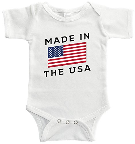 Made Outfit (Starlight Baby Made In The USA Bodysuit (3-6 months, White))