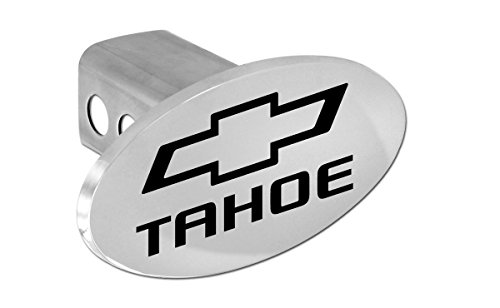 Chevy Tahoe 2012-2016 Bowtie Chrome Plated Metal Trailer Hitch Cover Plug (2 inch Post) (Trailer Chrome Hitch Plug)