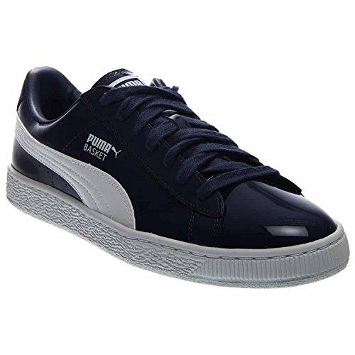 Puma Mens Basket Matte and Shine Fashion Sneaker, Azul, 45 D(M) EU/10.5 D(M) UK