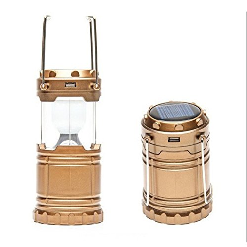 Solar Rechargeable Lantern Red Dandelion Charging for Mobile Outages Multifunction Hiking Camping - Silver Shield System