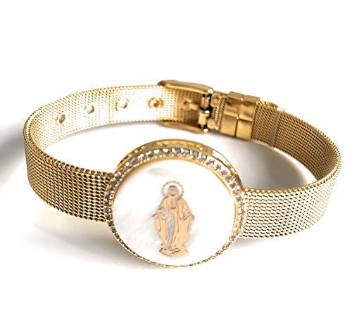 - Miraculous Virgin Charm Cuff Bracelet Virgen la Milagrosa