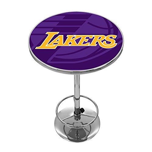 Trademark Gameroom NBA2000-LAL2 NBA Chrome Pub Table - Fade - Los Angeles Lakers