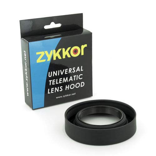 Zykkor 77mm Universal Telematic Wide/Zoom 3 Position Rubber Lens Hood