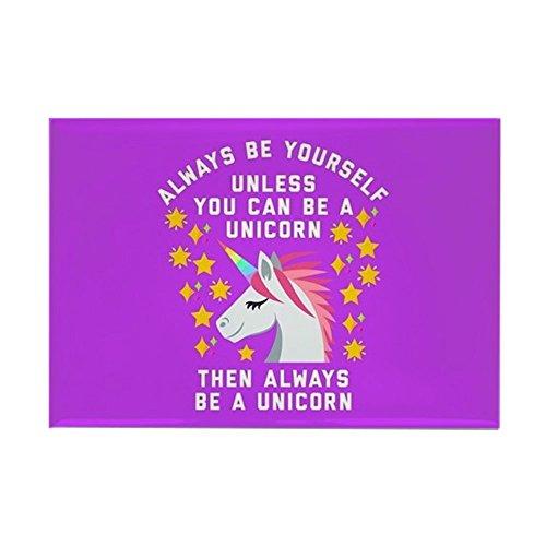 (CafePress Always Be Yourself Unicorn Rectangle Magnet, 2