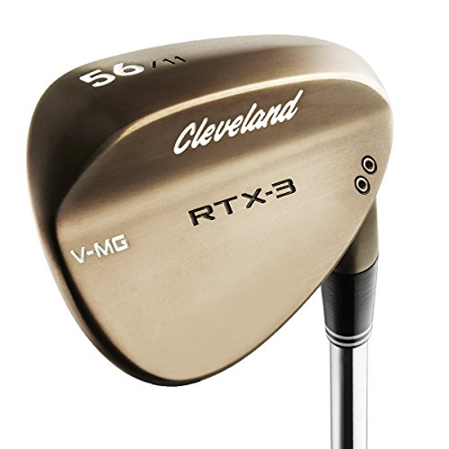 (Cleveland Golf Men's RTX-3 VMG Tour Wedge, Right Hand, Steel, 58 Degree, Raw Heads)
