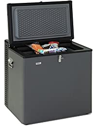 SMETA Compact Absorption Refrigerator Mini Chest Freezer 2.5 cu ft,12V/110V/LPG