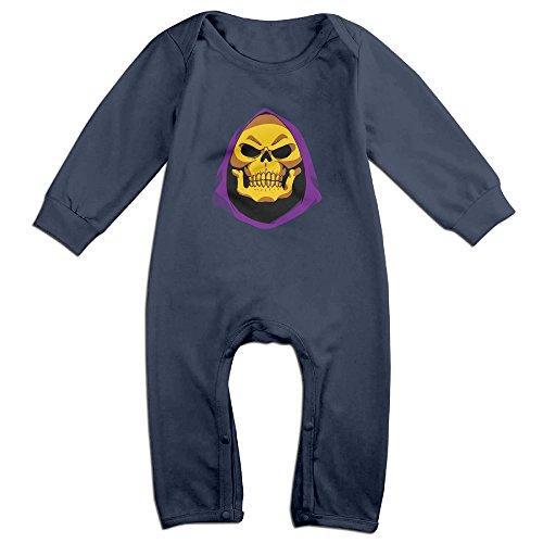 MoMo LOL Skeletor KidsToddler Romper Jumpsuit 6 M Navy -