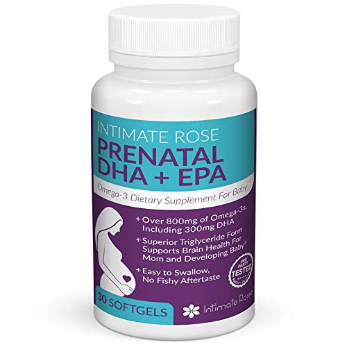 Intimate Rose - Prenatal DHA Supplement - Prenatal Omega 3 - Essential Pregnancy Vitamins - EPA Supplement for Healthy Mother and Baby - DHA 300mg, Total Omega-3 800mg (Best Dha Supplement For Pregnancy)