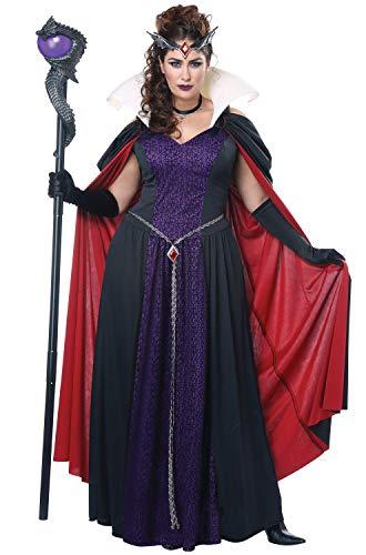 California Costumes Women's Plus-size Evil Storybook Queen - Adult Plus Women Costume Adult Costume,  -black/purple/lavender, ()