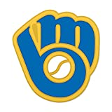 Milwaukee Brewers Retro Glove and Ball Logo Cloisonne Pin