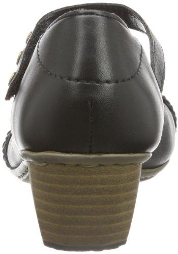 mujer 00 Cerrado nero negro Schwarz Rieker cuero schwarz de 41749 PfFWnnzIq