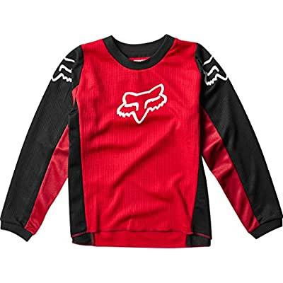 Fox Racing 180 Prix Kids Boys Off-Road Motorcycle Jersey - Flame Red/Medium: Clothing