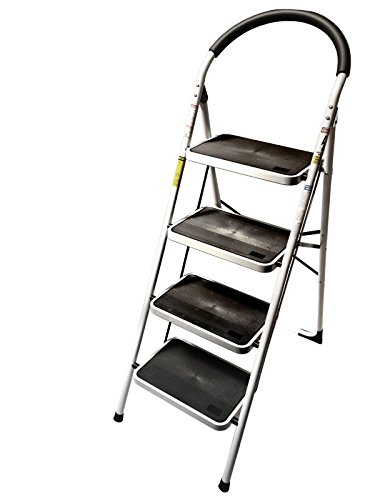 4 Step Ladder Lightweight Folding Stool Heavy Duty Industria