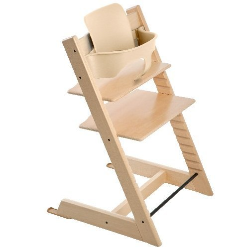 Stokke Tripp Trapp Complete Bundle - 2 Items: Tripp Trapp Highchair & Tripp Trapp Babyset Natural (Stokke Tripp Trapp High Chair Complete Bundle)