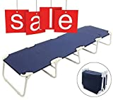 Milliard Deluxe Camping Cot Portable, Folding Bed with 5 Legs for Added Stability and Compact Storage