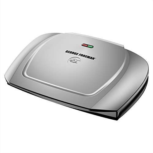 Grill Storage (George Foreman 9-Serving Basic Plate Electric Grill and Panini Press, 144-Square-Inch, Platinum, GR2144P)