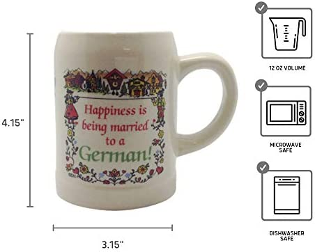 CeramicHappiness Married To A German Coffee Mug Essence of Europe Gifts E.H.G CM24