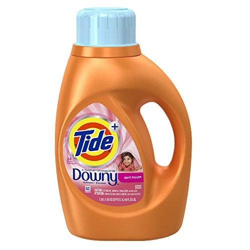 Tide Plus Touch Of Downy, April Fresh Scent, Liquid Laundry Detergent, 46 Fl Oz, 24 Loads