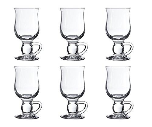 Irisch Coffee Tasse, Irisch Kaffee Gläser von Pasabahce, 270cc, 6 Stück