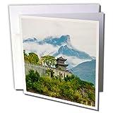 3dRose Danita Delimont - Travel - Baidicheng, White Emperor City, Yangtze River, China - 6 Greeting Cards with envelopes (gc_276722_1)