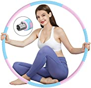 DUTISON Weighted Sports Hula Hoops,Fitness Exercise Hoops to Lose Weight, Exercise Hoops for Adults,Fat Burnin