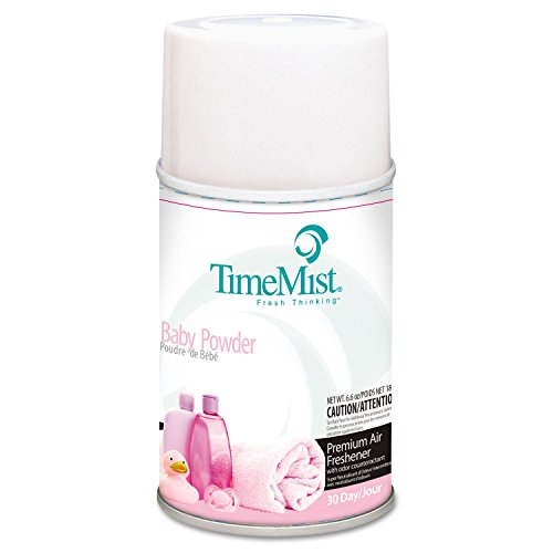 (TimeMist Metered Air Freshener Refills, Baby Powder, 6.6 oz - twelve 6.6 oz aerosol cans per case. )