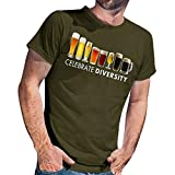 Men's Undershirts Tank Top,Men's Summer New Beer Printed Short Sleeves Fashion and Comfortable Blouse Top,Costumes & Accessories,Army Green,S