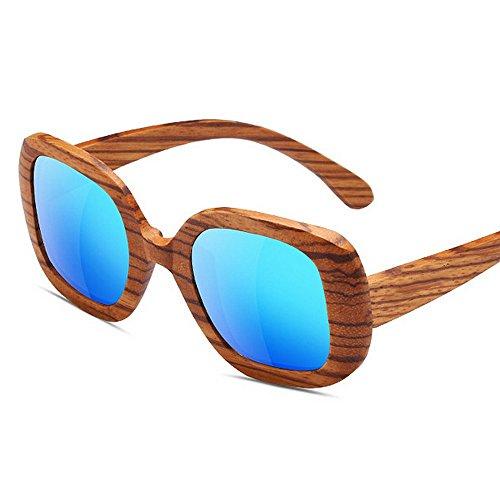 Gafas Madera Dos Efecto Tonos UV400 Madera de Lente de de SunglassesMAN Espejo de de Brillante Madera Sol de Yxsd de Grano Patrón 5gxwqv