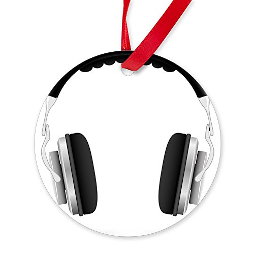 CafePress Round Ornament Studio Headphones