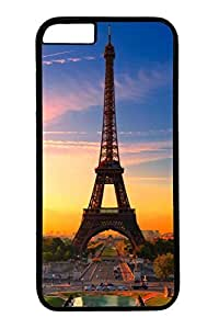 Personalized Protective Cases for New iPhone 6 PC Black Edge - Eiffel Tower05