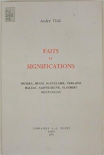 Lire en ligne Faits et Significations pdf epub