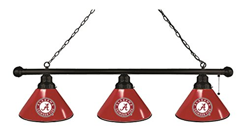 Alabama 3 Shade Billiard Light with Black Fixture by Holland Bar Stool