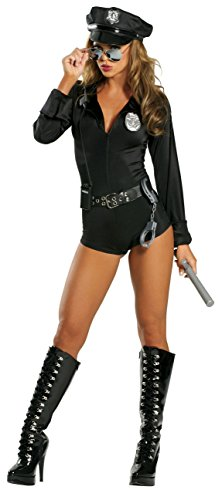 Police Outfit Sexy (7-PC Lady Cop Adult Small Medium Police Officer Sexy Outfit Costume)